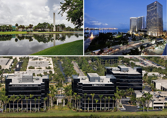 Motorola Solutions campus, Miami Center and the Airport Corporate Center