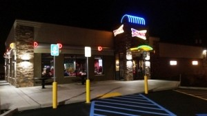 The biggest Sonic location is a former Perkins Restaurant & Bakery in Cheektowga, New York.