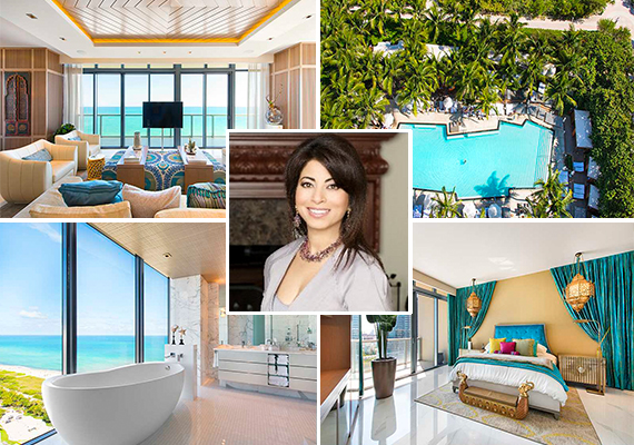 W South Beach penthouse and Poonam Khubani