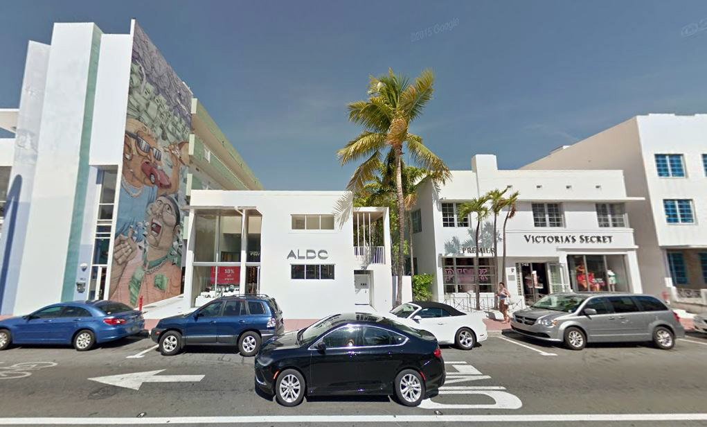 Aldo Miami Beach, at 745 Collins Avenue