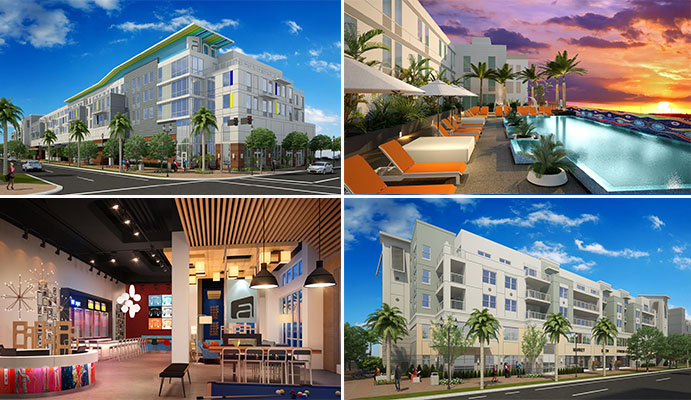 Renderings of the Aloft Delray Beach
