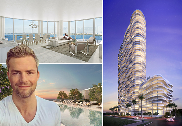 Renderings of the Aria on the Bay penthouse and tower, and Ryan Serhant