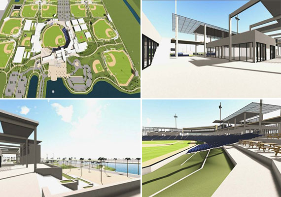 Renderings of the proposed baseball stadium