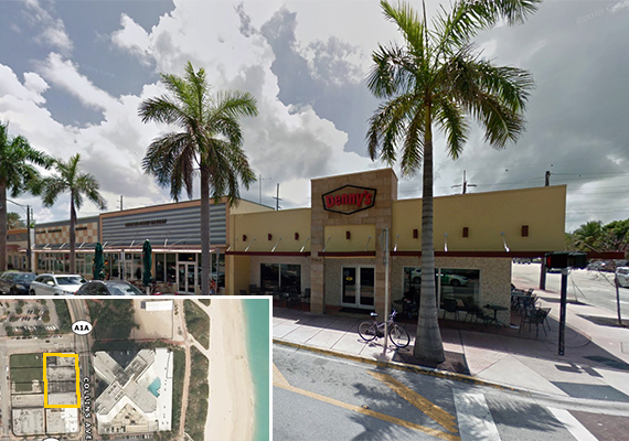 Collins Avenue retail and a map of the properties
