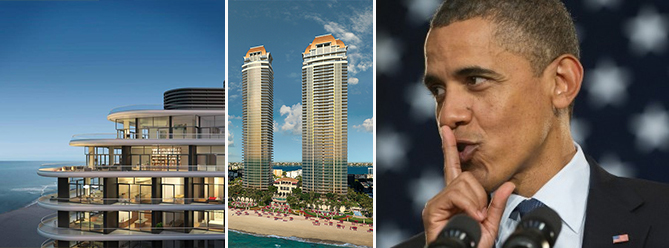 Faena House, Estates at Acqualina and President Obama