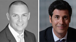 Rosemurgy CEO Alexander Rosemurgy and Jonathan Dracos, head of real estate investment for Investcorp