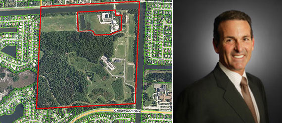 The vacant land in Royal Palm Beach and Lennar CEO Stuart Miller