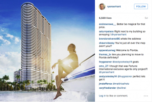 Serhant announced the listing on Instagram this week