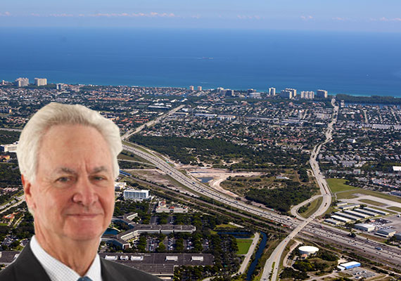 An aerial view of Boca Raton (Credit: WPPilot) and Richard Kayne, founder of Kayne Anderson Real Estate Advisors