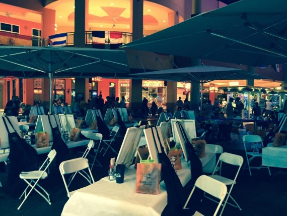 The outdoor dining area at the Cabo Flats location in Sweetwater's Dolphin Mall