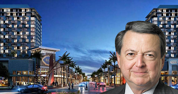 A rendering of Downtown Doral's retail portion and Armando Codina