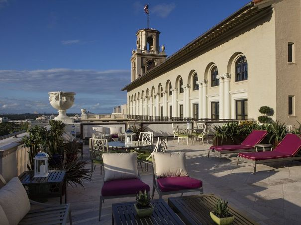 Flagler Club terrace at The Breakers in Palm Beach