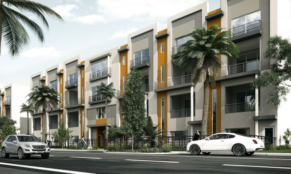 A rendering of the Galleria Lofts townhouse community in Fort Lauderdale