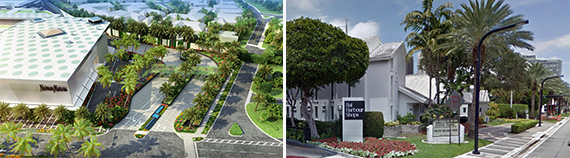 Rendering of Bal Harbour Shops and the Church by the Sea