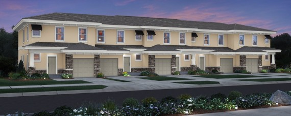 A rendering of the upcoming Reserve at Coral Springs multifamily project
