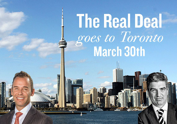 From left: Jay Parker, the Toronto skyline and Carlos Rosso