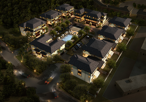 Villas at Pinecrest aerial