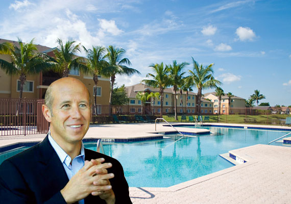 The Waverly apartment complex in Palm Beach County and Starwood CEO Barry Sternlicht
