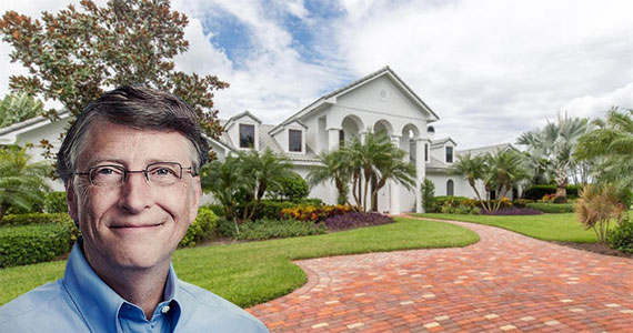 The home at 3060 Mallet Hill Court (Inset: Bill Gates via TNS Sofres)