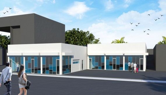 A proposed rendering of 560 and 566 Northwest 29th Street in Wynwood
