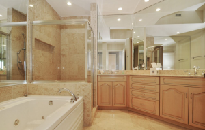 One of the penthouse's 11 bathrooms (Credit: VHT Studios)