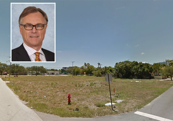 The Fort Lauderdale development site along Northeast 7th Street (Inset: Fairfield Residential CEO Greg Pinkalla)
