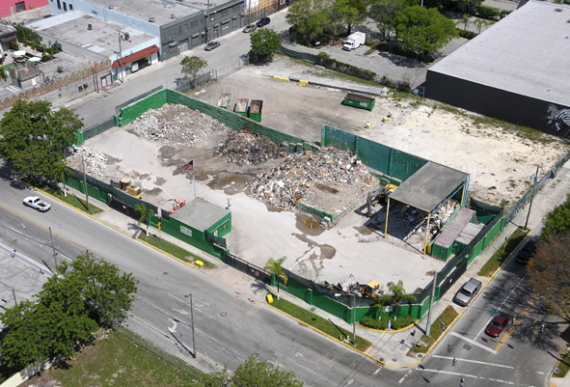 The waste management land at 2000 North Miami Avenue
