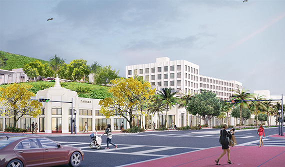 Rendering of the proposed hotel on Washington Avenue