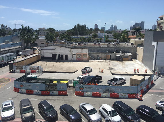 Construction site at 801 Lincoln Road