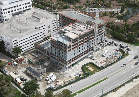 Construction site of AC Hotel by Marriott in Aventura