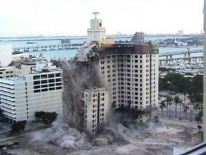The 2005 demolition of Miami's Everglades Hotel