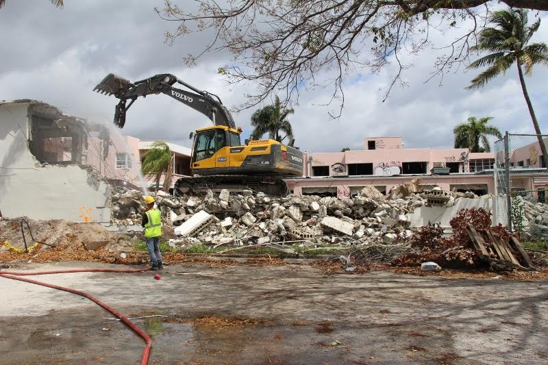 Demolition work on the Gale Fort Lauderdale