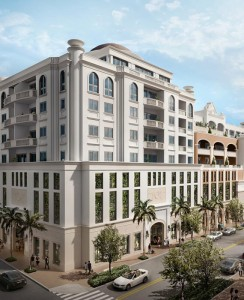 A rendering of Giralda Place in Coral Gables