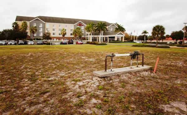 The 2.5-acre Hilton Homes2 Suites site in Sarasota (Credit: Matt M. Johnson for the Bradenton Herald)