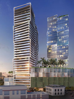 The plans for One West Palm include a Class A office tower, a five-star hotel and 84 luxury condominiums.