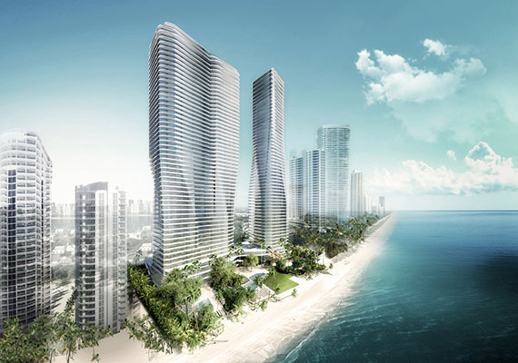 Rendering of the two-tower Varadero project