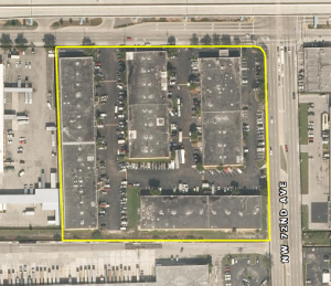 Aerial of the park at 7200 Northwest 25th Street Miami