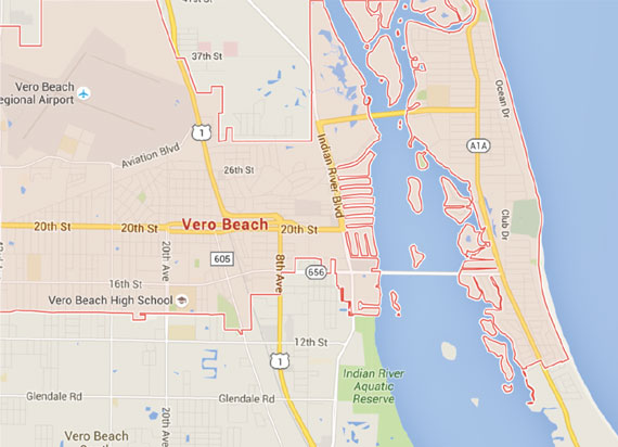 Map Of Florida Including Vero Beach