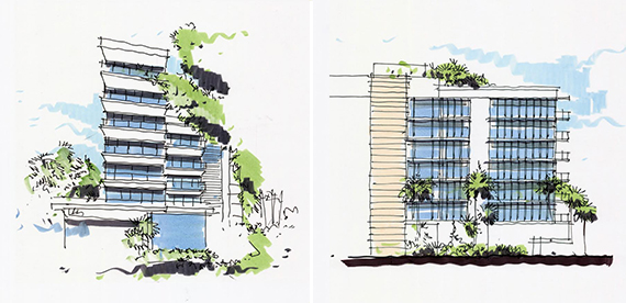 Sketches of 3550 South Ocean