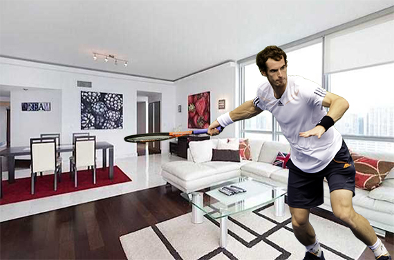 Andy Murray and his Jade Brickell unit