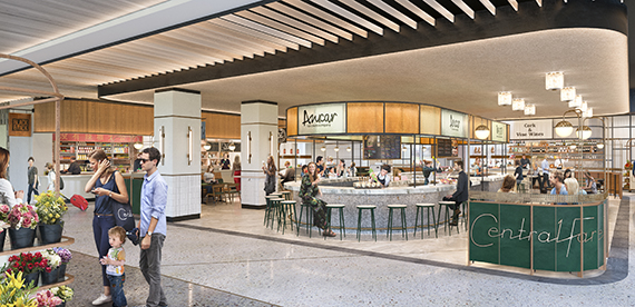 Rendering of Central Fare at MiamiCentral