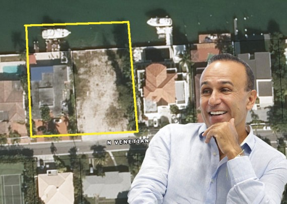 Moishe Mana and both properties he now owns on the Venetian Islands