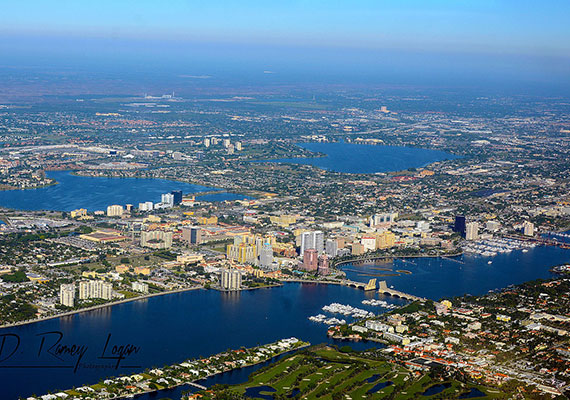 2014 aerial view of West Palm Beach (Credit: WPPilot)