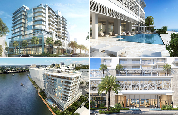 Renderings of Adagio Fort Lauderdale Beach