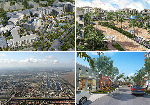 Fashion Mall rendering, Broadstone at Plantation, Fashion Mall and an aerial of Broward