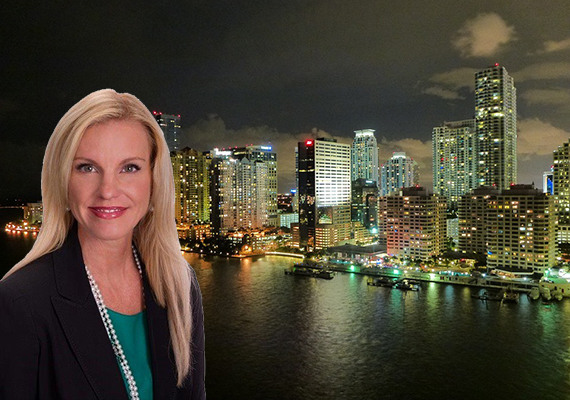 Caroline Fleischer and the Brickell skyline