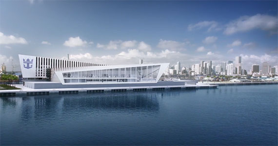 Rendering of Royal Caribbean's new terminal in PortMiami