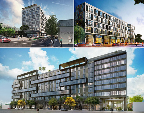 Renderings of 222 Wynwood, Wynwood 26 and Wynwood 25