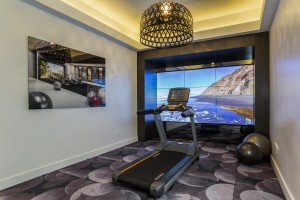 Sample of the fitness center's interactive wall