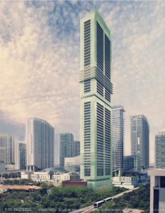 Rendering from architect Ricardo Bofill of a potential 830 Brickell development